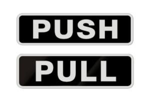 sc 1 st  InkAce.com & Push u0026 Pull Door Stickers