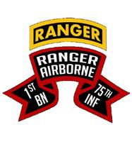USA 1st Battalion 75th Infantry Ranger Scroll