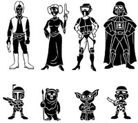 Star Wars Family Decal