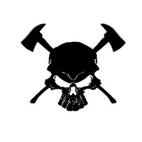 Fire Fighter Skull Decal #2