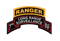 USA 7th Infantry Division Ranger Long Range Surveillance Scroll
