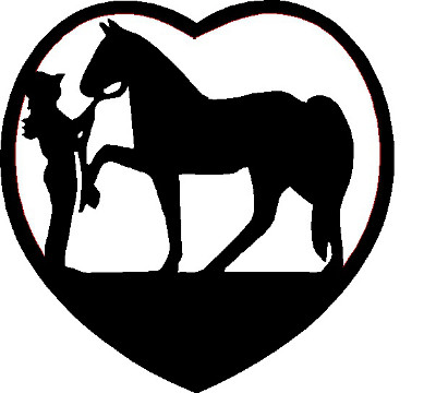 Cowgirl With Horse Heart Decal