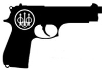 Beretta Pistol Decal