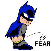 Pissing Batman On Fear Decal