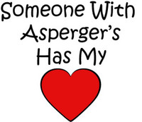 Someone With Asperger's Has My Heart Decal