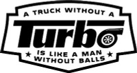 A Truck Without Turbo Decal