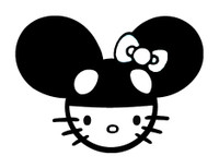 Hello Kitty Mouse Decal