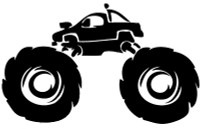 Monster Truck Offroad Decal