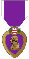 Armed Forces Purple Heart Decal