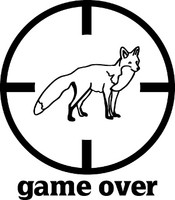 Game Over Fox Hunting Decal #2