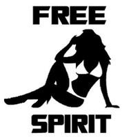 Free Spirit Bikini Girl Decal