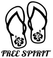 Free Spirit Flip Flops Decal