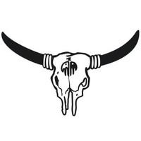 Bull Skull Decal