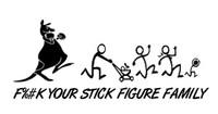 F%#k Your Stick Figure Family Decal (Kangaroo)