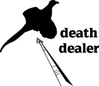 Death Dealer Pheasant Bowhunting Decal