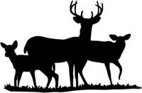 Family of Deer Decal