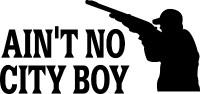 Ain't No City Boy Decal