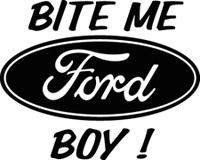 Bite Me Ford Boy Decal