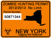 2012/2013 State Zombie Hunting Permit - Choose Your State
