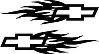 Chevrolet Flames Decal (Chevy Flames Pair)