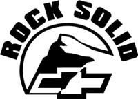 Chevrolet Rock Solid Decal (Chevy)