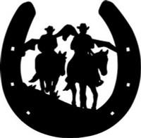 Cowboys & Horseshoe Decal