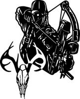 Bow Hunter and Buck Decal #4
