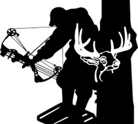 Bow Hunter and Buck Decal #11