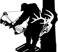 Bow Hunter and Buck Decal #12