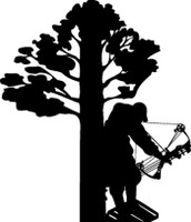 Bow Hunter In Tree Decal