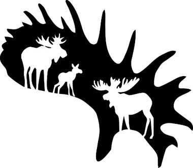 Moose Antler Decal