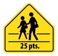 Pedestrian Crossing 25 Points Sticker