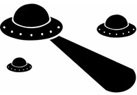 Alien UFO's Decal
