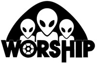 Alien Worship Decal