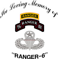 USA Custom In Loving Memory of Ranger 6