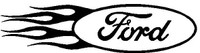 Ford Flames Decal