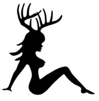 Mudflap Antler Girl Decal
