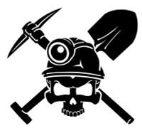 Miner Skull Decal