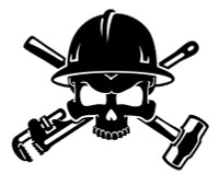 Oil Field Roughneck Skull Decal