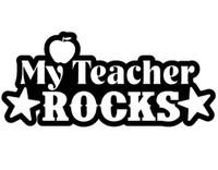 My Teacher Rocks Decal