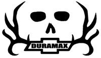 Duramax Chevy Skull Decal