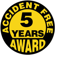 Accident Free 5 Year Award