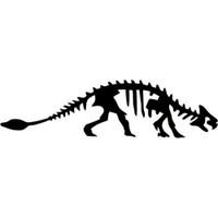 Ankylosaurus Dinosaur Fossil Decal