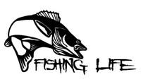 Fishing Life Decal #1