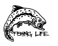 Fishing Life Decal #3