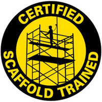 Certified Scaffold Trained (Black and Yellow)