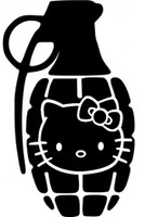 Hello Kitty Grenade Decal