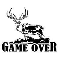 Buck Game Over Hunting Decal