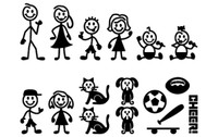 Stick Figure Family Pack Decals
