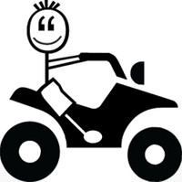 ATV Stick Figure Decal